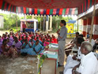 Thalikkal meeting the community